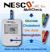 Nesco MultiCheck - Cholesterol/HGT/Hb/Uric Acid Monitor
