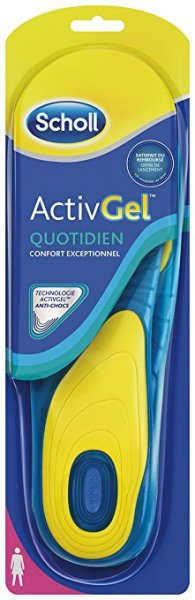 Scholl ActivGel Quotidien Soles 38-42 1 Pair (Female)