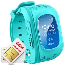 Kid Safe GPS Watch Wristwatch SOS Call Location Finder - Blue